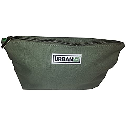 Urban Life Assets Toiletry Bag- Multi-Purpose Canvas Dopp, Makeup, Cosmetic or Pencil Bag by Urban Life