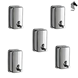 Horseway Stainless Steel Soap Dispensers - 500 ml - Set of 5