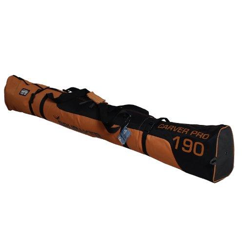 Brubaker henry borso porta sci carver pro 2.0, 170 cm o 190 cm, nuova edizione invernale 11 colori, poliestere, orange/noir, 190 cm