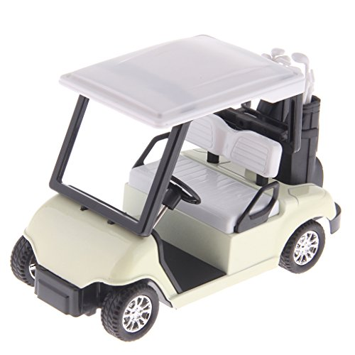 Sharplace New 1 20 Scale Mini Alloy Pull Back Golf Cart w  Clubs Diecast Model Vehicle Playset Toy Office Desk Decor Kits