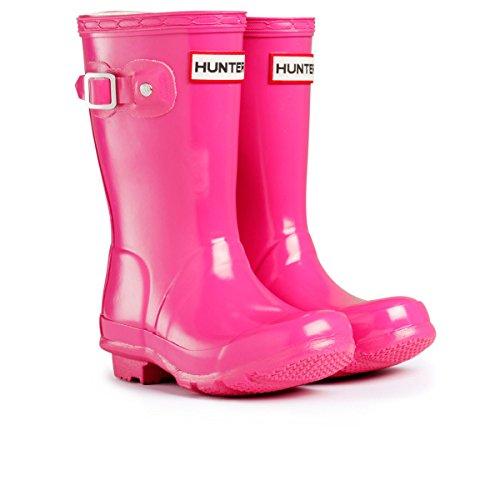 Hunter Kids Original Gloss Wellington Boots Lipstick Pink Wellies