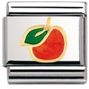 Nomination Composable Classic Fruits Edelstahl, Email und 18K-Gold (Orange) 030215