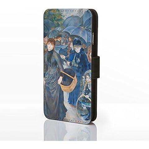 Arte Classica Collezione casi per la gamma iPhone. Famoso Artista Pittura Covers, Ecopelle, 21: The Umbrellas - Pierre Auguste Renoir, iPhone 5c