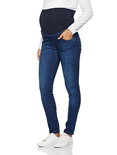 bellybutton Maternity Damen Umstandsjeans Jeans Slim mit Überbauchbund, Blau (Dark 0012), 38