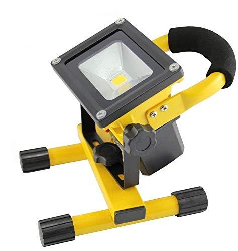SAILUN 10W Gelb LED Mit Akku Kaltweiß Baustrahler Fluter Handlampen Flutlicht Arbeitsleuchte Tragbar wiederaufladbare Fluter IP65 (10W Kaltweiß)