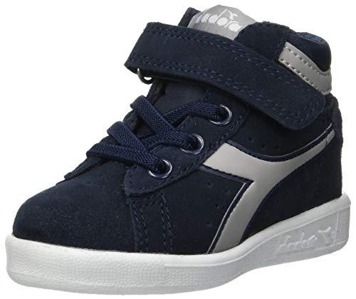 Diadora game s high td, scarpe da ginnastica unisex – bambini, multicolore (blu profondo/grigio paloma c6125), 26 eu