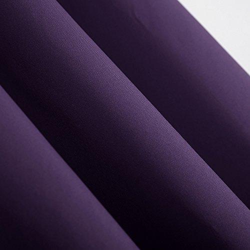 Deconovo Thermogardinen mit Ösen Oxford Vorhang für Schlafzimmer 240×140 cm Dunkellila - 3