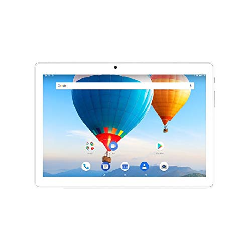 ibowin® 10.1 Pulgadas 1280x800 IPS Android 8.1 Oreo Tablet PC 2G RAM 16G ROM, MTK Quad Core 5MP Camera WiFi + Cellualr Dual-SIM Tarjetas AGPS - Plata