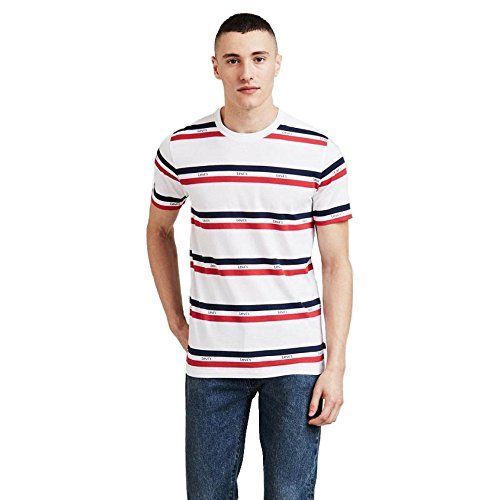 Levi's set in mission t-shirt white/red