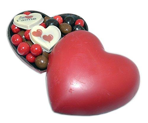 COEUR TOUT CHOCOLAT SAINT VALENTIN - COFFRET COEUR TOUT CHOCOLAT 160G - CHOCOLAT CADEAU ST VALENTIN