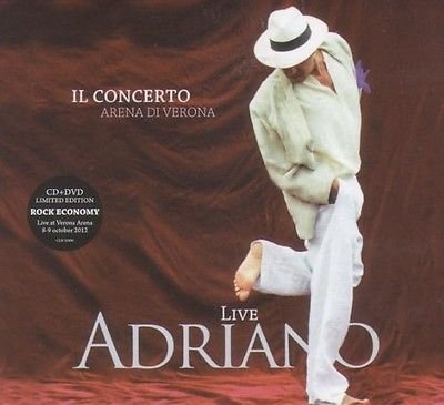 ADRIANO CELENTANO Il Concerto Live At Arena Di Verona 2012 CD+DVD PAL Digipak BOXNEW