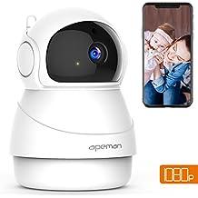 Apeman 1080P IP Cámara WiFi, Cámaras de Vigilancia WiFi Interior, Visión Nocturna, Audio