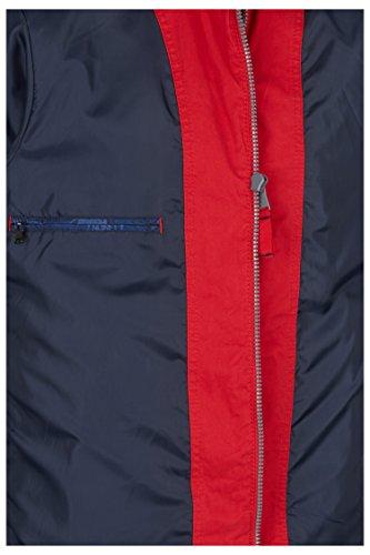 CALAMAR Jacke für Herren, Herrenjacke in Rot, Sommerjacke ohne Kapuze, 100% Baumwolle, 130540 3056 Tomato
