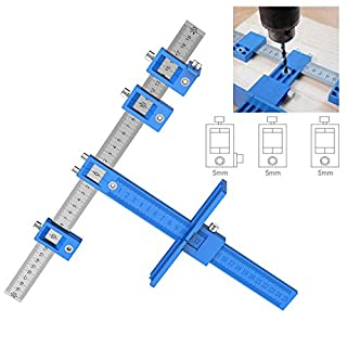 CTlite Cabinet Hardware Jig, Punch Locator Drill Guide Sleeve Cabinet Hardware Template Measuring Tool Wood Drilling Dowelling Hole for Installation of Handles Knobs on Doors or Drawer Pull