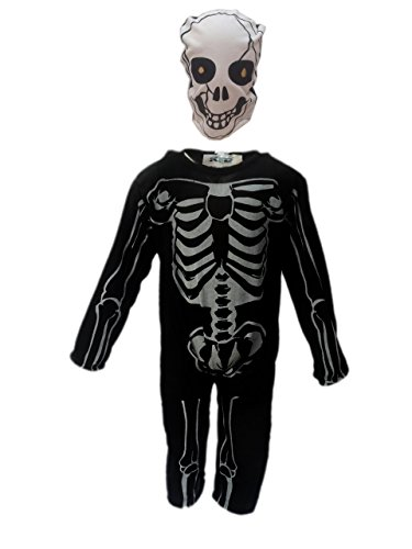 KFD Skeleton fancy dress for kids,Halloween Costume for School Annual function/Theme Party/Competition/Stage Shows Dress