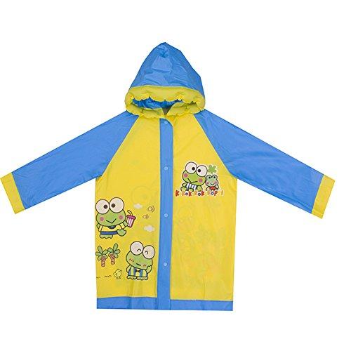FULANDA Kids Cartoon Rainwear Children PVC Raincoat Hooded With Button