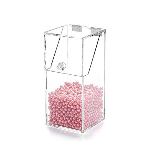 Brosse À Maquillage Acrylique Boîte De Rangement Transparente Boîte De Rangement Perle ( Couleur : With White bead )