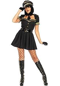 Leg Avenue- Mujer, Color Negro, Small (EUR34-36) (LO85643)