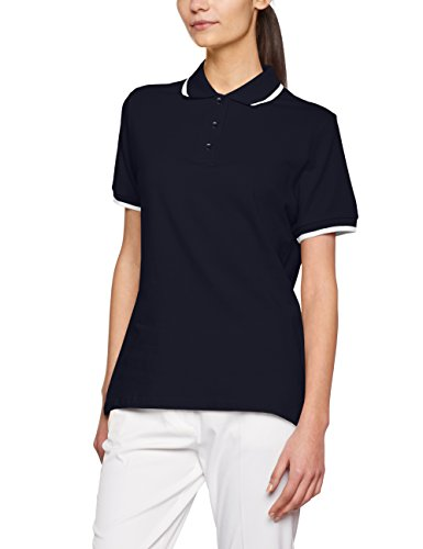JAMES & NICHOLSON Tipping, Polo Femme Blau (Navy/White)