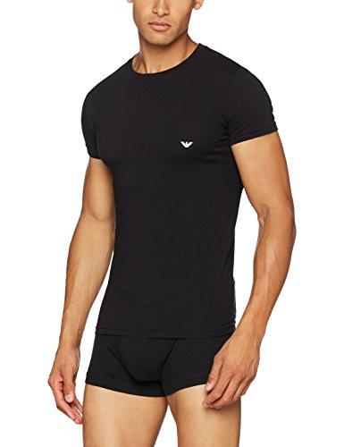 Emporio Armani Underwear Herren 111035CC729 Schlafanzugoberteil, Schwarz (NERO 00020), Large