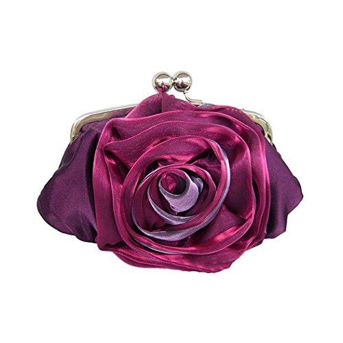 VENI MASEE®® Blume-Form Abschlussball & Party-Abend Handtasche, Handtasche, Geschenkideen - Farben verschiedenen, Preis / Stück Lila