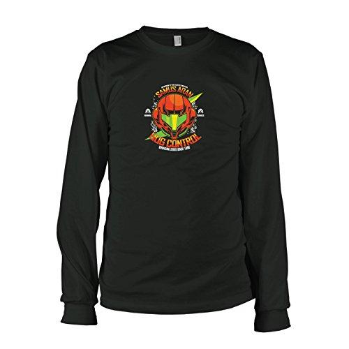 TEXLAB - Samus Bug Control - Herren Langarm T-Shirt, Größe M, schwarz (Bug Control)
