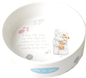 Pet Brands Me To You Ceramic Dog Feeding Bowl, 7-inch by Pet Brands