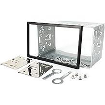 Naviskauto - Kit de montaje universal de hierro para marco de reproductor de DVD de doble DIN para el coche