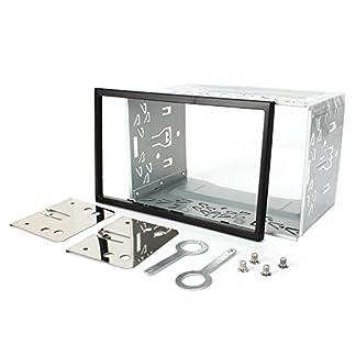 NAVISKAUTO-Eisen-Plastik-Einbaurahmen-Einbauschacht-fr-Doppel-2-DIN-Autoradio-Auto-DVD-Player-GPS-NavigationY0013