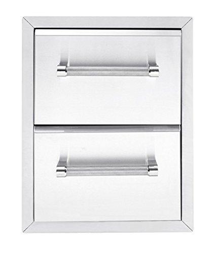 KitchenAid 780–0016integrierte Grill Schrank Schublade Aufbewahrung, 45,7cm Edelstahl (Grill Schubladen)