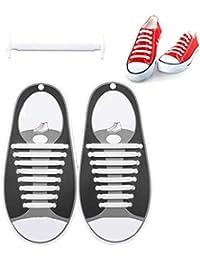 Eternitry Lacci per Scarpe in Silicone per Bambini e Adulti 1 Paio Lacci  per Scarpe Non be0acc216b2