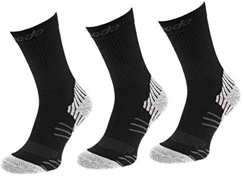 Comodo 3 Paar Bequeme Multi-Sport Socken | Tennis | Hiking | Trekking | Wandern | Laufen | Basketball | Fußball | Camping | STM Black/Mouline 35-38