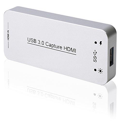 Rybozen HD Video Grabber / USB 3.0 Capture Karte / HDMI Gerät Dongle / Full HD 1080P Video Audio Konverter / HDMI zu USB Adapter