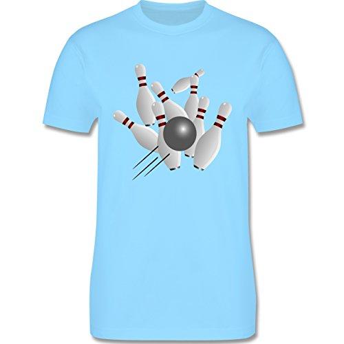 Bowling & Kegeln - Kegeln alle 9 Kegeln Kugel - Herren Premium T-Shirt Hellblau