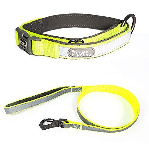 erende Nylon Hundehalsband und Leine Set 3 Farben Small Medium Big Hundehalsband Haustiere Leinen,Green,M ()