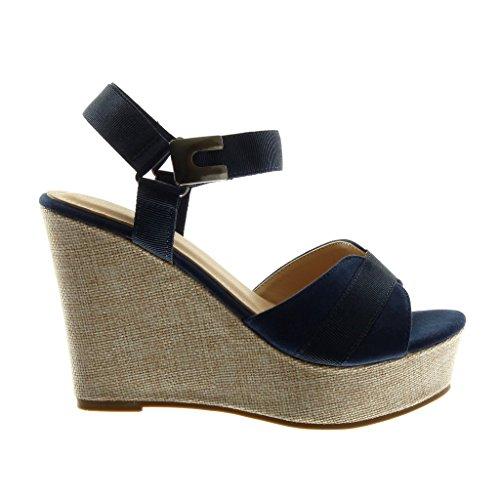 Angkorly Mode Chaussures Mules Sandales Bride Avec Wedges Bimatière vg6vqc4rw