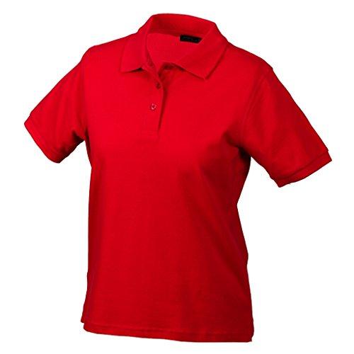 JAMES & NICHOLSON Hochwertiges Polohemd mit Armbündchen Red