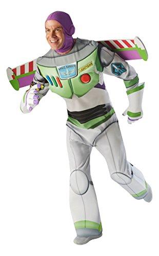 Toy Story Herren Kostüm Astronaut Buzz Lightyear Größe (Halloween Lightyear Buzz Kostüm)