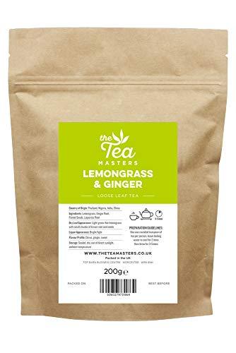 The Tea Masters Hojas Sueltas de Té de Hierba Limón y Jengibre 200g
