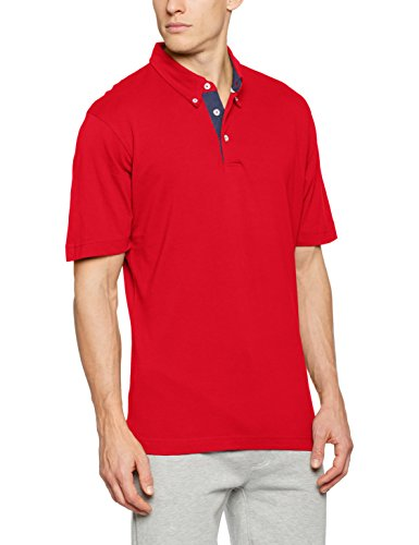 James & Nicholson Herren Poloshirt Men´s Plain Polo Rot (Red/Dark-Denim)
