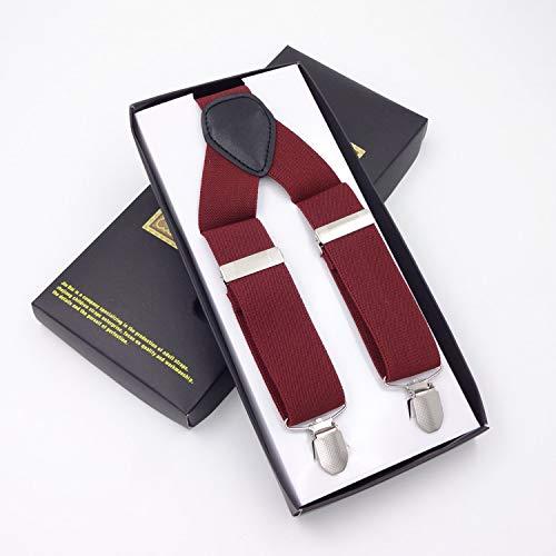 SUPOOGO 3 Clip Sangle Élastique pour Hommes Largeur Étendue De 3,5 Cm Version Longue De 130 Cm Longueur