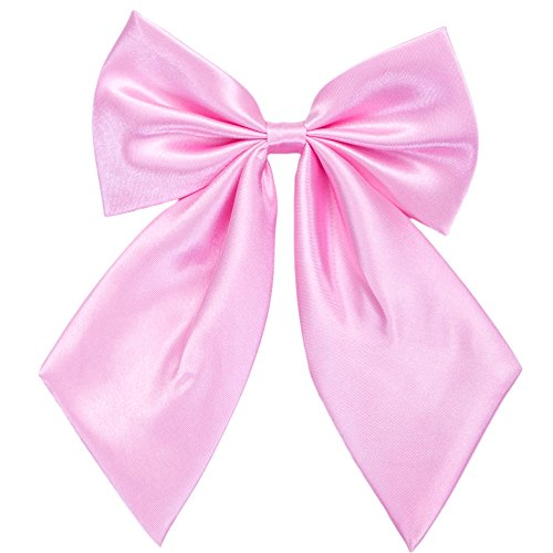Binder Rosa 2 (Damen Fliege Schleife Binder Schlips - 28 ~ 49 cm Länge Verstellbare Bowknot Krawatten (Rosa))