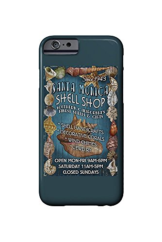 Santa Monica, California - Shell Shop Vintage Sign (iPhone 6 Cell Phone Case, Slim Barely There)