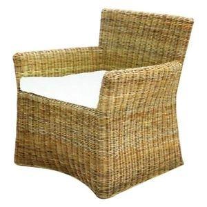 Sessel Stuhl Siam aus Rattan mit Kissen Sessel Gartenmöbel günstig ...
