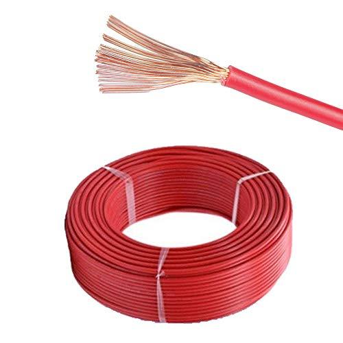 MKGT - Cable de Pared para Coche (12 V, 24 V, núcleo único), Color Rojo y Negro