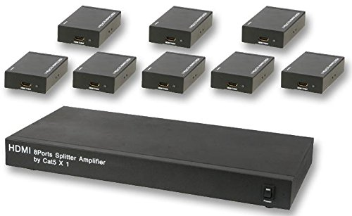 HDMI über CAT5 8:1 Verteiler + Rxs Hdmi-verteiler Über Cat5