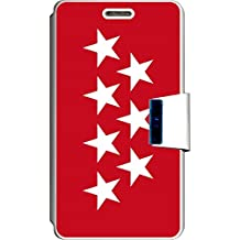 SUPER STICKER Funda Libro para Vodafone Smart 4 Turbo Cover Flip Blanco, con Dibujo,