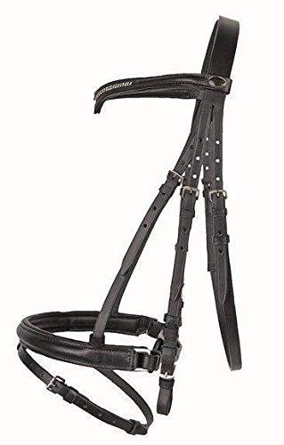 HKM Reittrense, unterlegt mit -V- Stirnband, schwarz, Pony