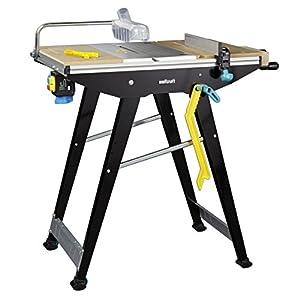 Mesa de sierra y estación de trabajo Wolfcraft 6906506Master Cut 1500, color negro