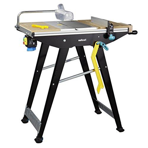 Wolfcraft 6906506Master Cut 1500-Precision Table de sciage et de travail station, Noir